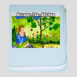 Occupy The Kitchen baby blanket