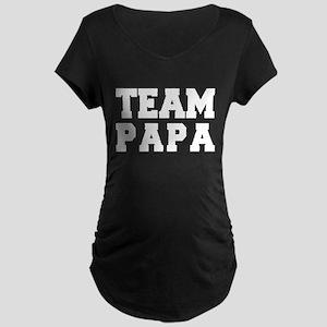 TEAM PAPA Maternity Dark T-Shirt