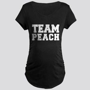 TEAM PEACH Maternity Dark T-Shirt