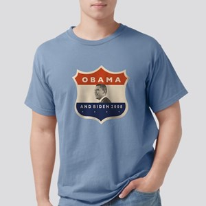 obamaBIDENjfkshield60TR. Mens Comfort Colors Shirt