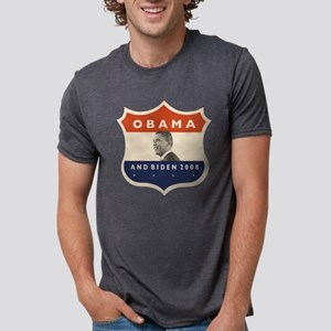 obamaBIDENjfkshield60TR Mens Tri-blend T-Shirt