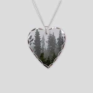 Misty pines Necklace Heart Charm
