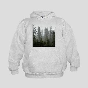 Misty pines Kids Hoodie