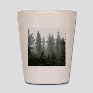 Misty pines Shot Glass