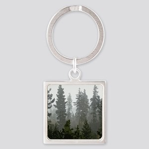 Misty pines Square Keychain