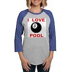 LOVE POOL.jpg Womens Baseball Tee