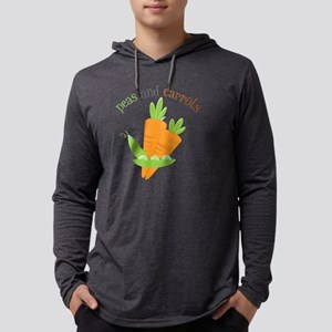 Peas and Carrots Mens Hooded Shirt