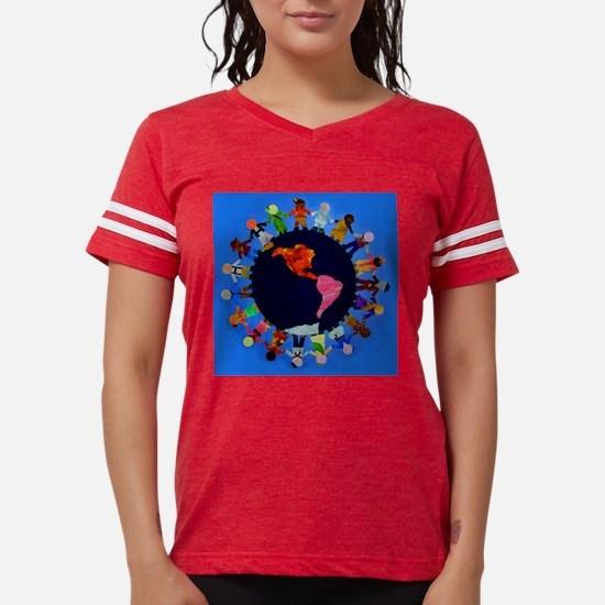 ChildrenAroundWorldCLOCK200. Womens Football Shirt
