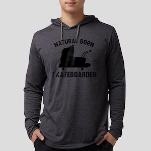 StrollerNaturalBornSkateb1A Mens Hooded Shirt