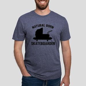 StrollerNaturalBornSkateb1A Mens Tri-blend T-Shirt