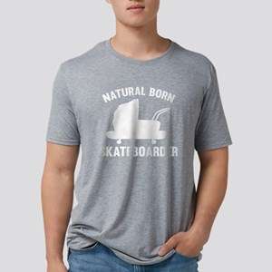 StrollerNaturalBornSkateb1B Mens Tri-blend T-Shirt