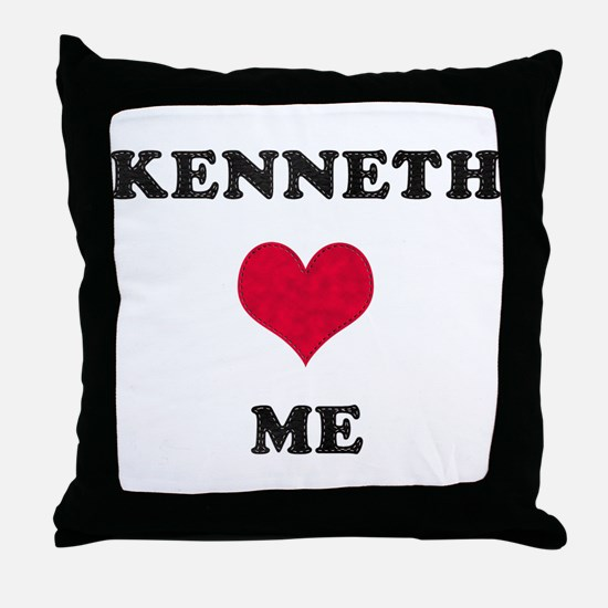 Kenneth Loves Me Throw Pillow