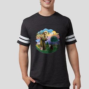 St Francis (f) - Calico Cat (A Mens Football Shirt