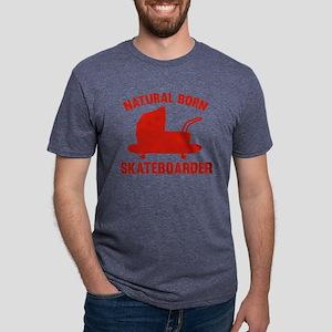 StrollerNaturalBornSkateb1D Mens Tri-blend T-Shirt