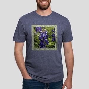 Bluebonnet with Border Mens Tri-blend T-Shirt
