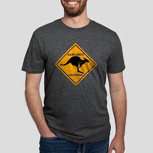 Kangaroo Sign Crossing A3 c Mens Tri-blend T-Shirt