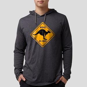 Kangaroo Sign Roo Xing A3 copy.p Mens Hooded Shirt