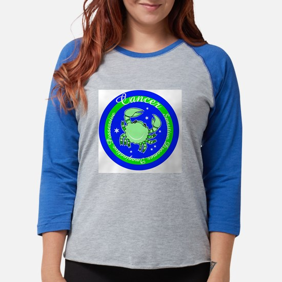 Cancer Blue Circle.png Womens Baseball Tee