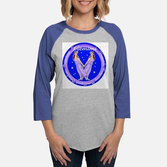 Gemini Blue Circle.png Womens Baseball Tee