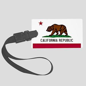 California Flag Large Luggage Tag