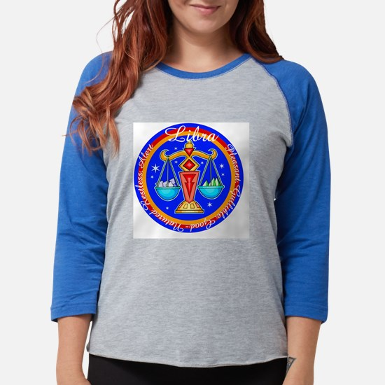Libra Blue Circle.png Womens Baseball Tee