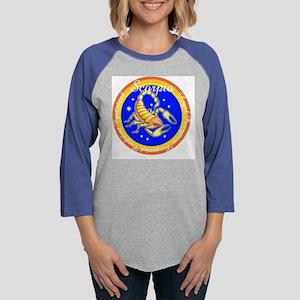 Scorpio Blue Circle Womens Baseball Tee