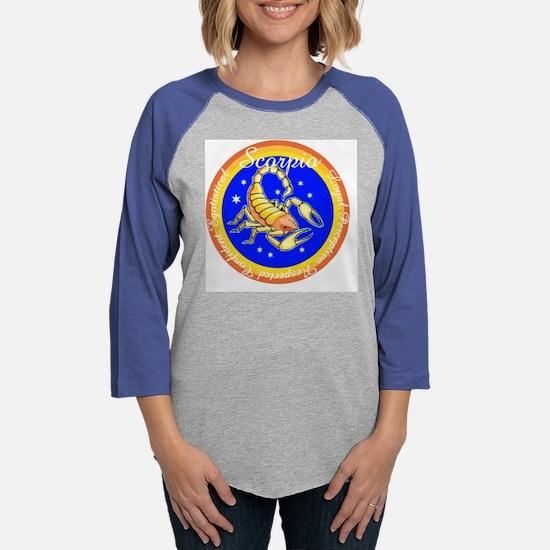 Scorpio Blue Circle.png Womens Baseball Tee