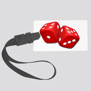 Red Dice Large Luggage Tag