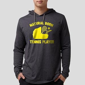 StrollerNaturalBornTennis1C Mens Hooded Shirt