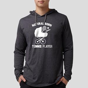 StrollerNaturalBornTennis2B Mens Hooded Shirt