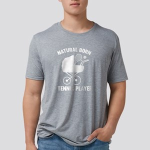 StrollerNaturalBornTennis2B Mens Tri-blend T-Shirt