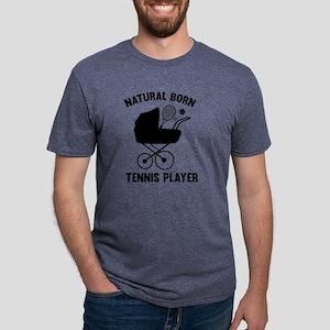 StrollerNaturalBornTennis2D Mens Tri-blend T-Shirt