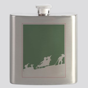 Christmas Woodblock Flask