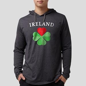 IRELAND_BLACK Mens Hooded Shirt