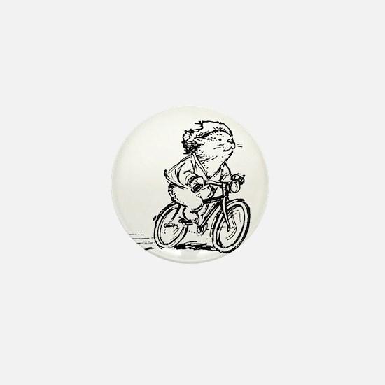 muddle headed wombat on bike Mini Button