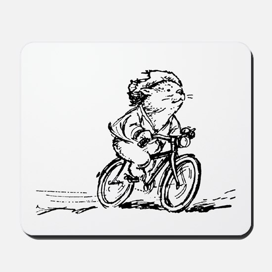 muddle headed wombat on bike Mousepad