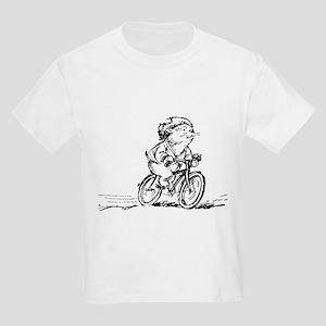 muddle headed wombat on bike Kids Light T-Shirt