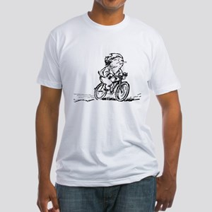 muddle headed wombat on bike Fitted T-Shirt