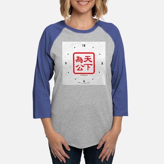 clock-seal-2.png Womens Baseball Tee