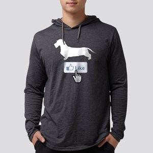 Dachshund-Wirehaired21 Mens Hooded Shirt