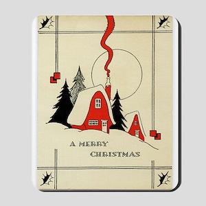 Vintage Merry Christmas Card Mousepad