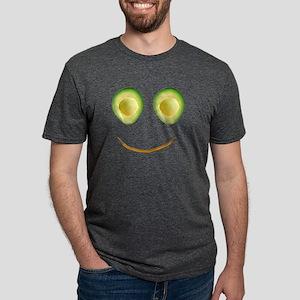 Cute Avocado Face 4Rhonda Mens Tri-blend T-Shirt