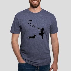 Dachshund-Wirehaired28 Mens Tri-blend T-Shirt