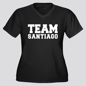 TEAM SANTIAGO Women's Plus Size V-Neck Dark T-Shir