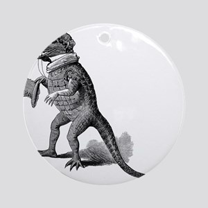 Alligator with top hat Ornament (Round)
