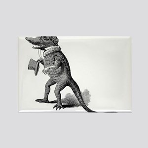 Alligator with top hat Rectangle Magnet