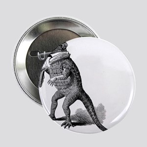 """Alligator with top hat 2.25"""" Button (10 pack)"""