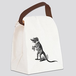 Alligator with top hat Canvas Lunch Bag
