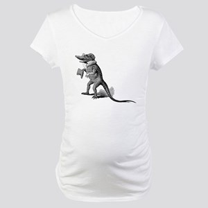 Alligator with top hat Maternity T-Shirt