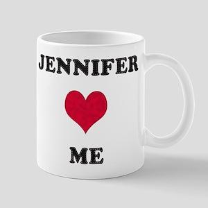 Jennifer Loves Me Mug